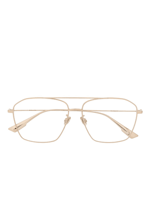 Dior Eyewear StellaireO14F square aviator glasses - GOLD
