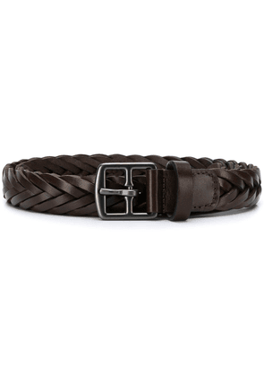 Anderson's pleated belt - Brown
