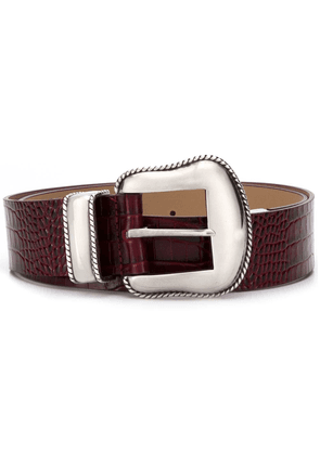 B-Low The Belt embossed crocodile effect belt - Red