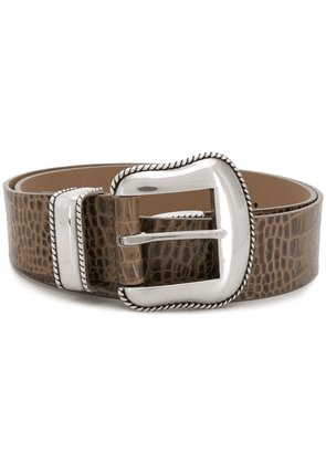 B-Low The Belt crocodile-effectt belt - NEUTRALS