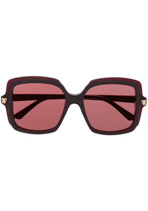 Cartier Panthère oversized frame sunglasses - Brown