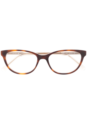 Lacoste oval frame glasses - Brown