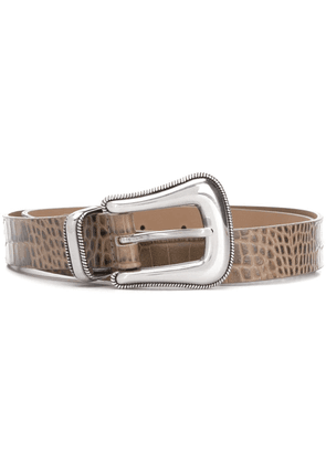 B-Low The Belt croco-embossed belt - NEUTRALS
