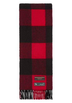 Gucci checked scarf - Red