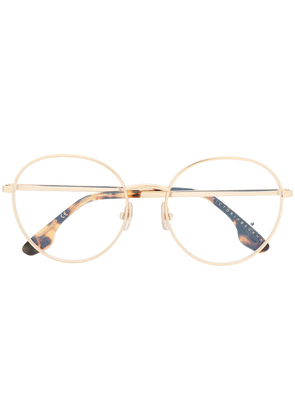 Victoria Beckham VB228 round-frame glasses - Brown