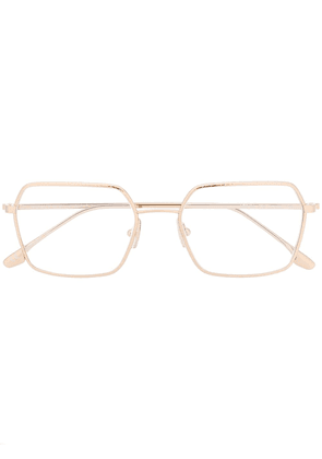 Victoria Beckham square glasses - GOLD