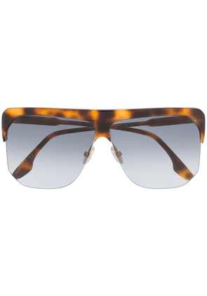 Victoria Beckham tortoiseshell-effect oversized sunglasses - Brown
