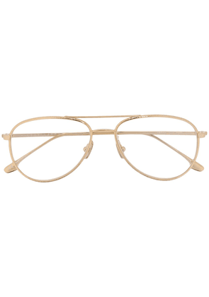 Victoria Beckham aviator wire frame glasses - GOLD