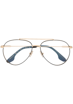 Victoria Beckham aviator frame glasses - GOLD