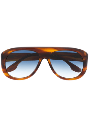 Victoria Beckham oversized round sunglasses - Brown
