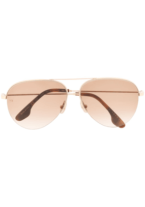 Victoria Beckham aviator sunglasses - GOLD
