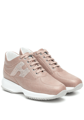 Interactive embellished sneakers