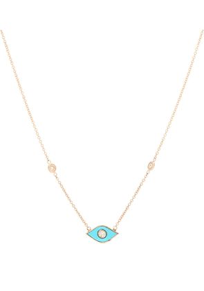 Marquise 14kt rose-gold and diamond necklace
