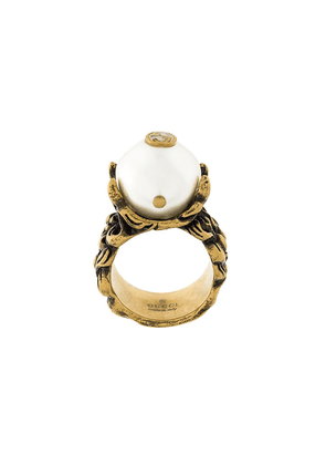 Gucci pearl effect ring - Metallic
