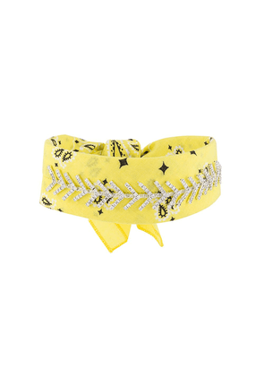 Fallon jewel embellished bandana choker - Yellow
