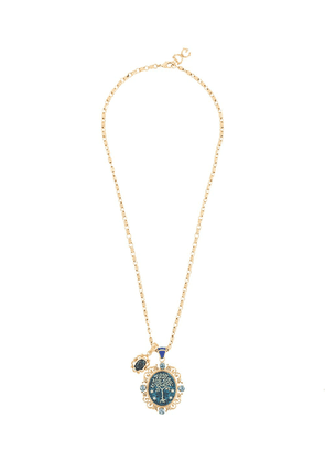 Dolce & Gabbana tree charm short necklace - GOLD