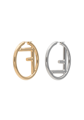 Fendi FF logo earrings - Metallic