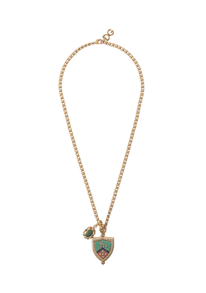 Dolce & Gabbana crest pendant necklace - GOLD