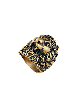 Gucci Ring with lion head - GOLD