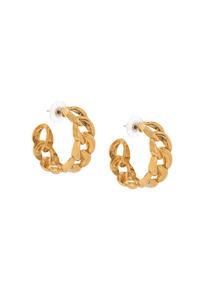 Jennifer Behr Tara chain hoop earrings - GOLD