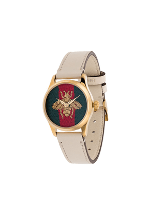 Gucci G-Timeless embroidered face watch - White