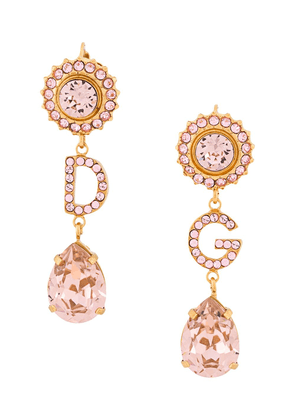Dolce & Gabbana crystal-embellished initial pendant earrings - GOLD