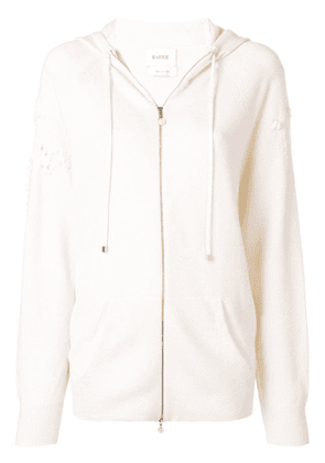 Barrie Romantic Timeless cashmere hoodie - White