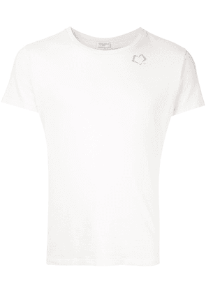 Saint Laurent heart logo detail T-shirt - White
