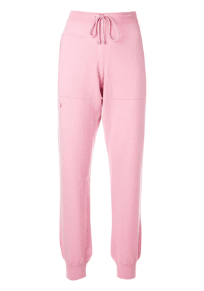 Barrie knitted track pants - PINK