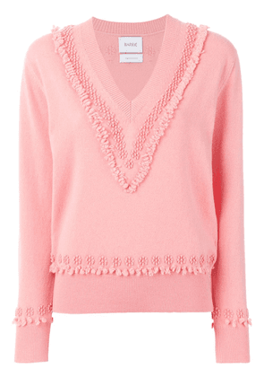 Barrie Romantic Timeless cashmere V neck pullover - PINK