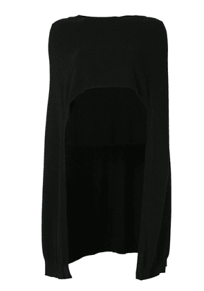 Barrie Romantic Timeless cashmere high front cape - Black