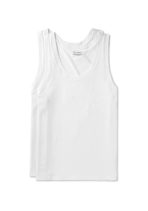 Dolce & Gabbana - Day By Day Two-pack Stretch-cotton Jersey Tank Tops - White