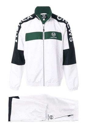 Andrea Crews colour-block track jacket - White