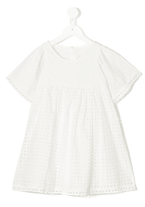 Chloé Kids broderie anglais dress - White