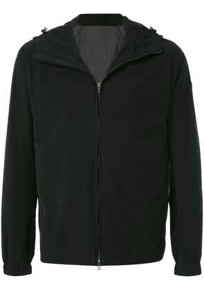Attachment zipped hooded sweatshirt - Black