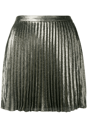 Saint Laurent short pleated skirt - Metallic