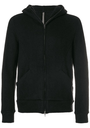 Attachment hooded zipped jacket - Black