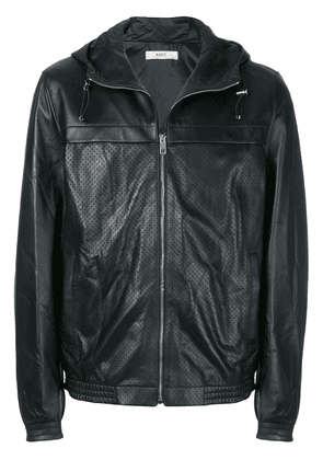 Bally perforated hooded jacket - Black