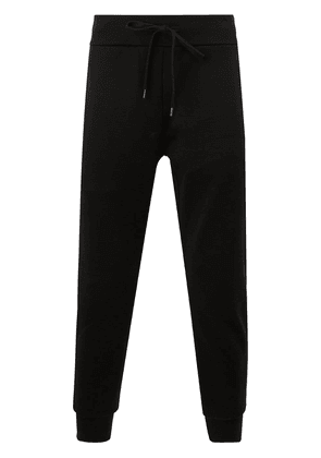 Attachment cropped drawstring track pants - Black