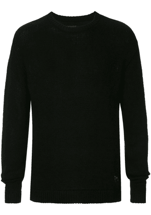 RtA back embroidered sweater - Black