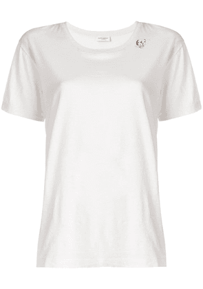 Saint Laurent skull card T-shirt - White
