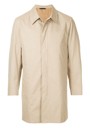 Gieves & Hawkes fitted trench coat - Brown
