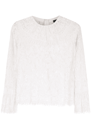 Andrea Bogosian lace long sleeved top - White
