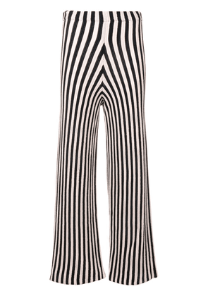 Circus Hotel striped cropped trousers - MIX-1