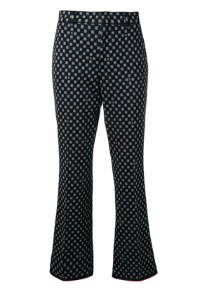 Gucci patterned flared trousers - Blue