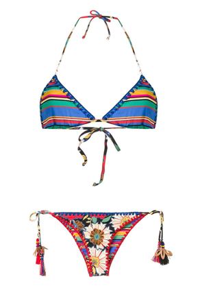 Anjuna embroidered pattern bikini - Blue