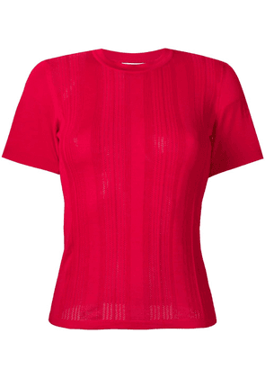 Barrie short-sleeve ribbed sweater - PINK