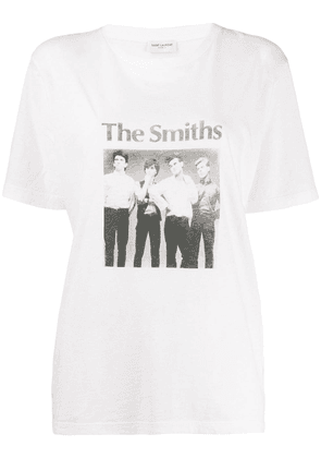 Saint Laurent The Smiths-print T-shirt - White