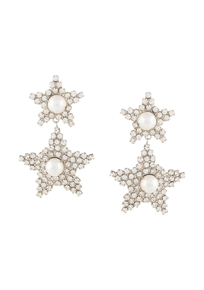 Jennifer Behr Twyla crystal embellished earrings - SILVER