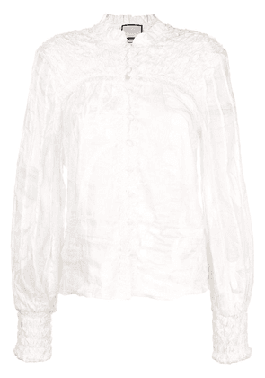 Alexis Bismarck embroidered blouse - White